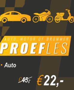 Proefles-auto-r